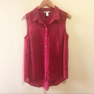 H&M Sleeveless Button Down Blouse Size 10